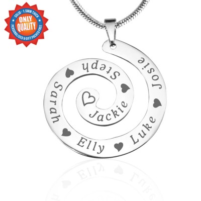 personalized Swirls of Time Necklace - Sterling Silver - Name My Jewelry ™