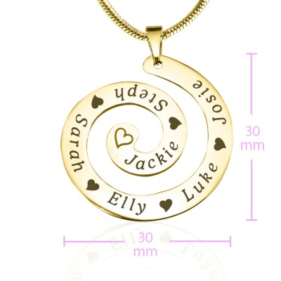 personalized Swirls of Time Necklace - 18ct Gold Plated - Name My Jewelry ™