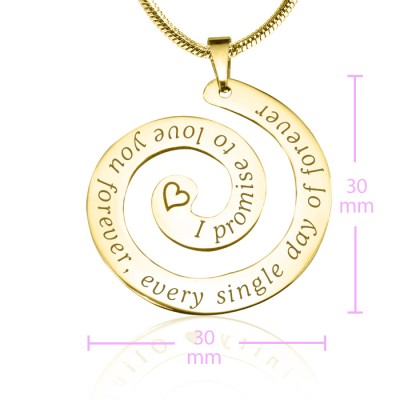 personalized Promise Swirl - 18ct Gold Plated*Limited Edition - Name My Jewelry ™