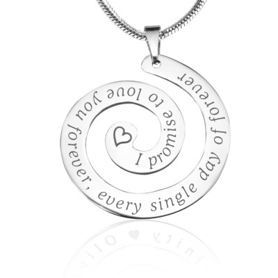personalized Promise Swirl - Sterling Silver *Limited Edition - Name My Jewelry ™