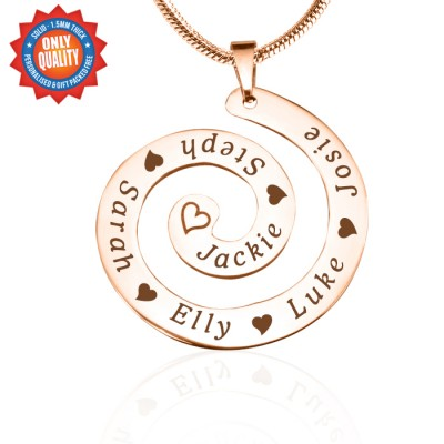 personalized Swirls of Time Necklace - 18ct Rose Gold Plated - Name My Jewelry ™