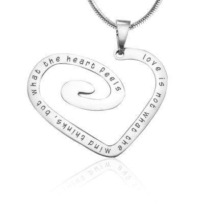 personalized Love Heart Necklace - Sterling Silver *Limited Edition - Name My Jewelry ™