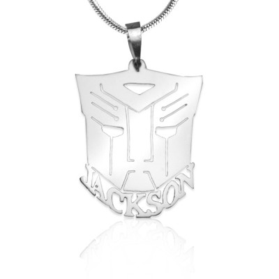 personalized Transformer Name Necklace - Sterling Silver - Name My Jewelry ™