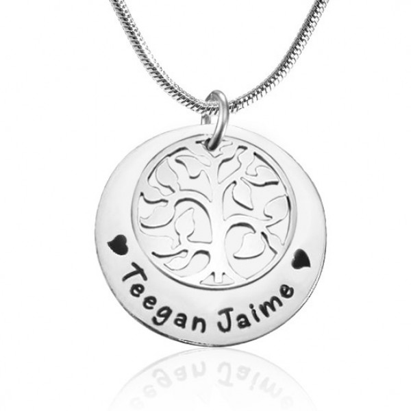 personalized My Family Tree Single Disc - Sterling Silver - Name My Jewelry ™