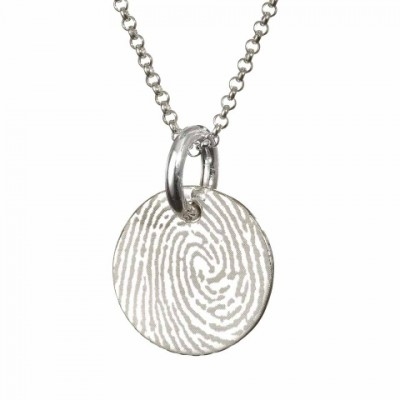 Pattened FingerPrint Circle Pendant - Name My Jewelry ™