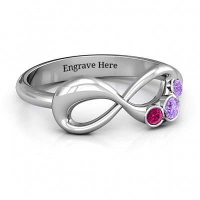 Now and Forever  Infinity Ring - Name My Jewelry ™