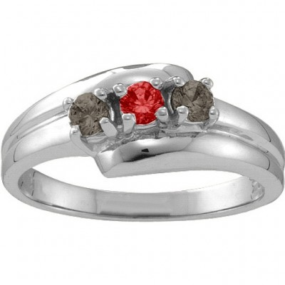 Reverie  Angled 2-6 Stones Ring  - Name My Jewelry ™
