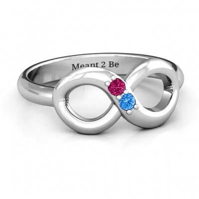Twosome  Infinity Ring - Name My Jewelry ™