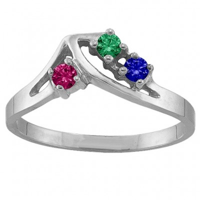 1-5 Stone Crest Ring  - Name My Jewelry ™