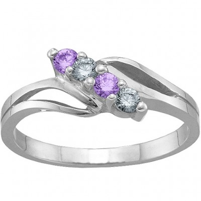 2-7 Stones Branch Ring  - Name My Jewelry ™