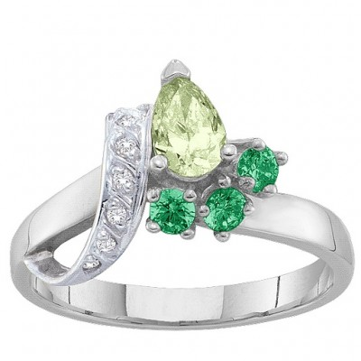 2-7 Stones Ribbon Ring  - Name My Jewelry ™