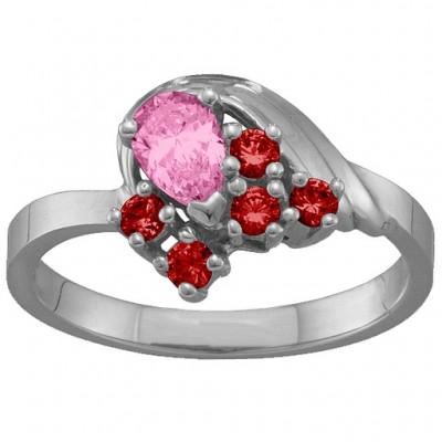 3-9 Stones Swan Ring  - Name My Jewelry ™