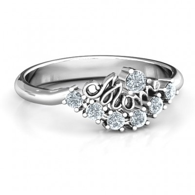 4 - 9 Stone Mom's Glimmering Love Ring  - Name My Jewelry ™