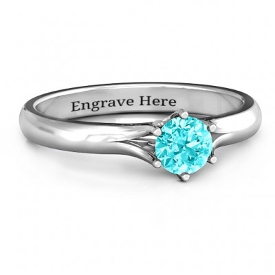 6 Prong Solitaire Ring - Name My Jewelry ™