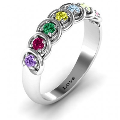 6 to 9 Stones in Halo Ring  - Name My Jewelry ™
