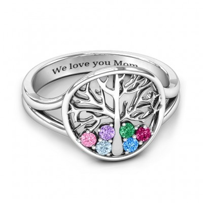 Always Around Love 6 Stone Family Tree Ring  - Name My Jewelry ™