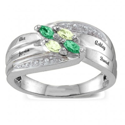 Angled 2-6 Marquise Ring - Name My Jewelry ™