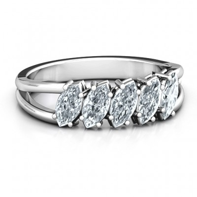 Angled Marquise Ring - Name My Jewelry ™