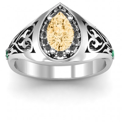 Aphrodite Ring with Side Gems - Name My Jewelry ™