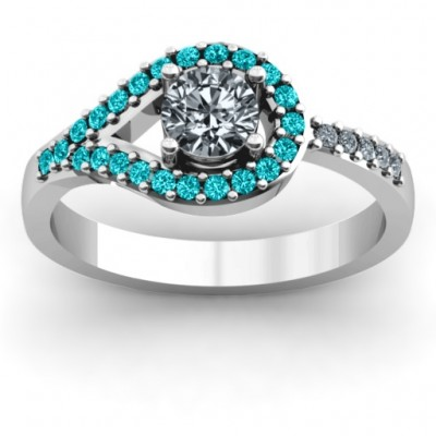 Asymmetrical Wrap Knot Ring - Name My Jewelry ™