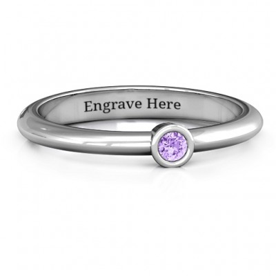Beloved Classic Bezel Set Ring - Name My Jewelry ™