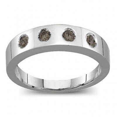 Belt Ring with 2-6 Round Stones  - Name My Jewelry ™