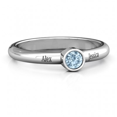 Bezel Set Solitaire Ring - Name My Jewelry ™