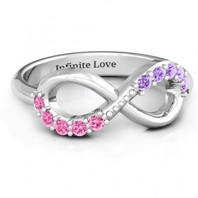 Birthstone Infinity Accent Ring  - Name My Jewelry ™