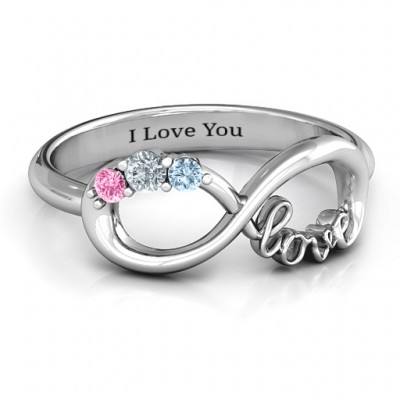 Birthstone Infinity Love Ring  - Name My Jewelry ™
