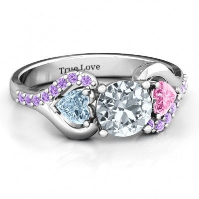 Blast of Love Ring with Accents - Name My Jewelry ™