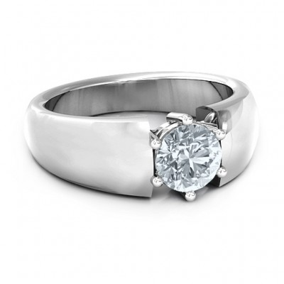 Bold Devotion Solitaire Ring - Name My Jewelry ™