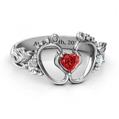 Bundle Of Joy Baby Foot Ring - Name My Jewelry ™