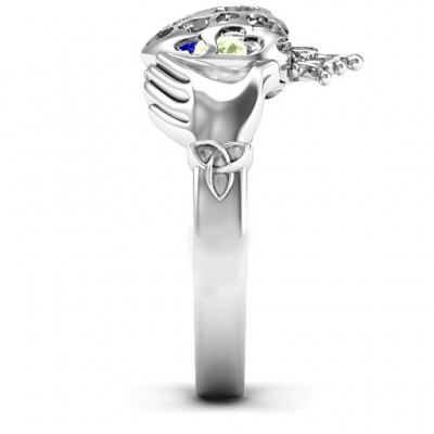 Caged Hearts Claddagh Ring - Name My Jewelry ™
