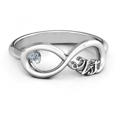 Celebrate 21 Infinity Ring - Name My Jewelry ™