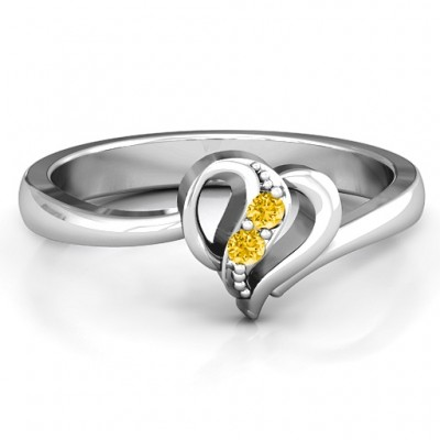 Centre Weave Fashion Heart Ring - Name My Jewelry ™