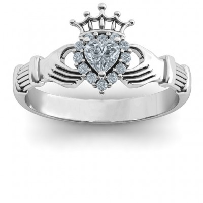 Claddagh with Halo Ring - Name My Jewelry ™