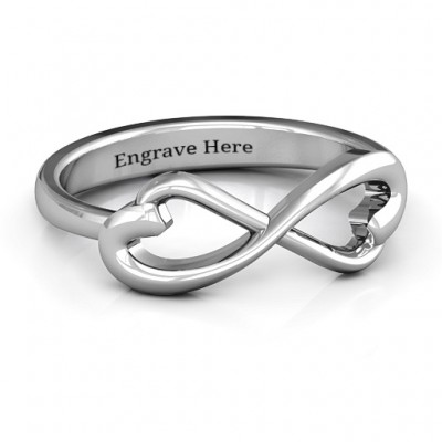 Classic Hearts Infinity Ring - Name My Jewelry ™