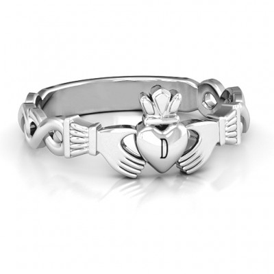 Classic Infinity Claddagh Ring - Name My Jewelry ™