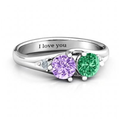 Darling Duo Double Gemstone Ring  - Name My Jewelry ™