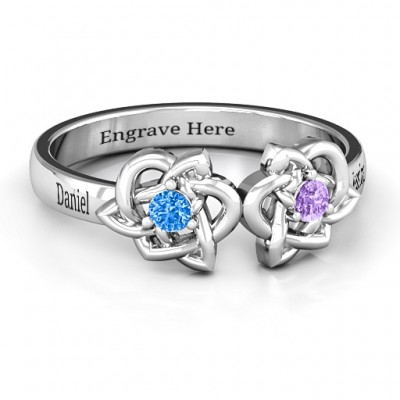 Double Celtic Gemstone Ring  - Name My Jewelry ™