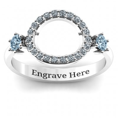 Double stone Karma Ring with Accents  - Name My Jewelry ™