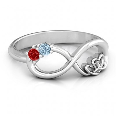 Double the Love Infinity Ring - Name My Jewelry ™