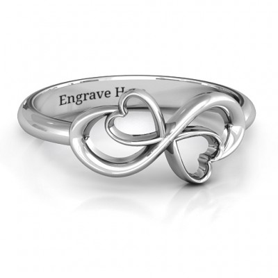Duo of Hearts Infinity Ring - Name My Jewelry ™