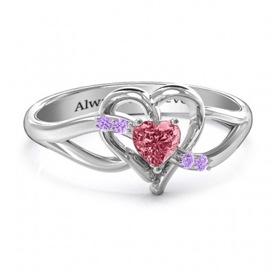 Endless Romance Engravable Heart Ring - Name My Jewelry ™