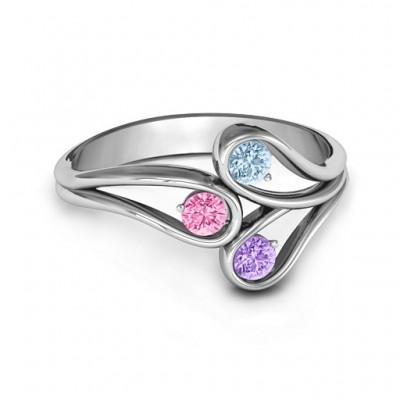 Eternal Elegance Three-Stone Ring  - Name My Jewelry ™