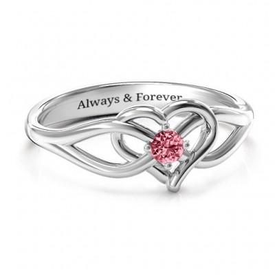 Everlasting Elegance Interwoven Heart Ring - Name My Jewelry ™