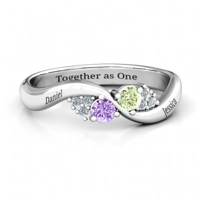 Everyday Dream Ring With Shoulder Accents - Name My Jewelry ™