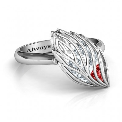 Exquisite Elm Cage Leaf Ring - Name My Jewelry ™