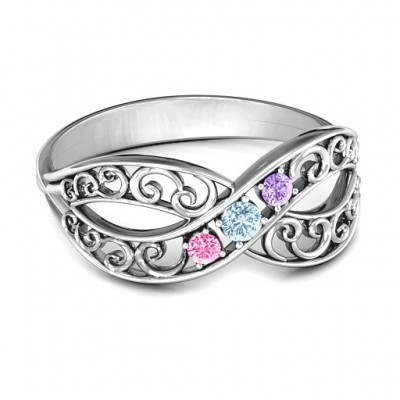 Forever Filigree Infinity Ring - Name My Jewelry ™