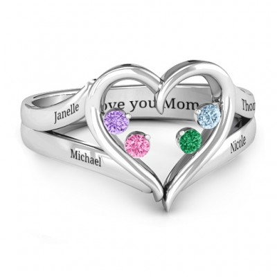 Forever In My Heart Birthstone Ring  - Name My Jewelry ™